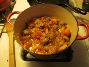 Simmer gently to combine flavours for about 10 minutes.